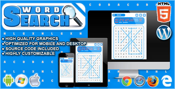 Word Search - HTML5 Word Game  - CodeCanyon Item for Sale