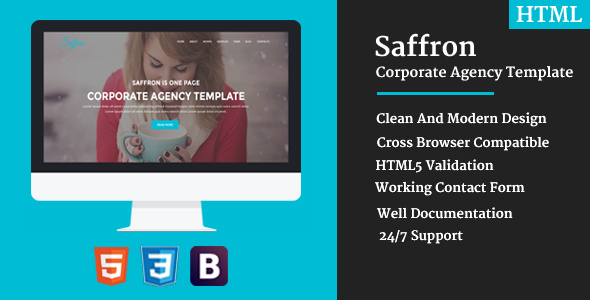 Saffron - Corporate Agency Template - Technology Site Templates