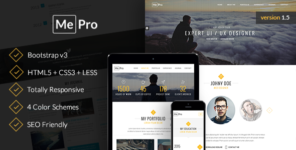 MePro - Creative Personal & Portfolio Template - Virtual Business Card Personal