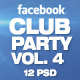 Facebook Timeline Cover Package Club Party Vol.4 - GraphicRiver Item for Sale