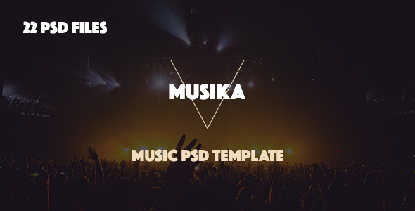 Musika - Music Band PSD Template