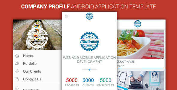 Company Profile Android App Template  - CodeCanyon Item for Sale