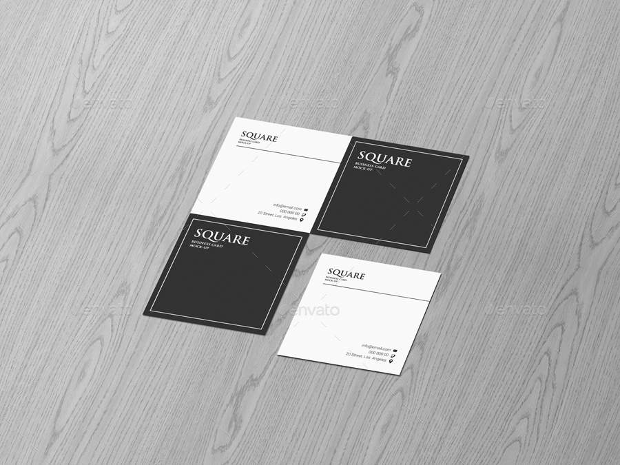 Square business card mock up by trgyon graphicriver square business card mock up reheart Images
