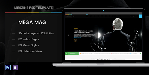 Mega Mag – Blog Magazine News Editorial Theme