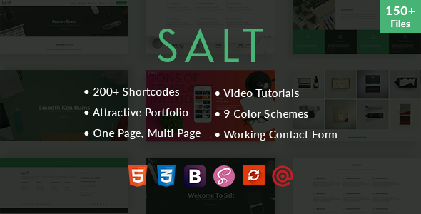 Salt – Multi-purpose HTML5 Template