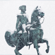 Statue Of Man On Horse In Snowfall - VideoHive Item for Sale