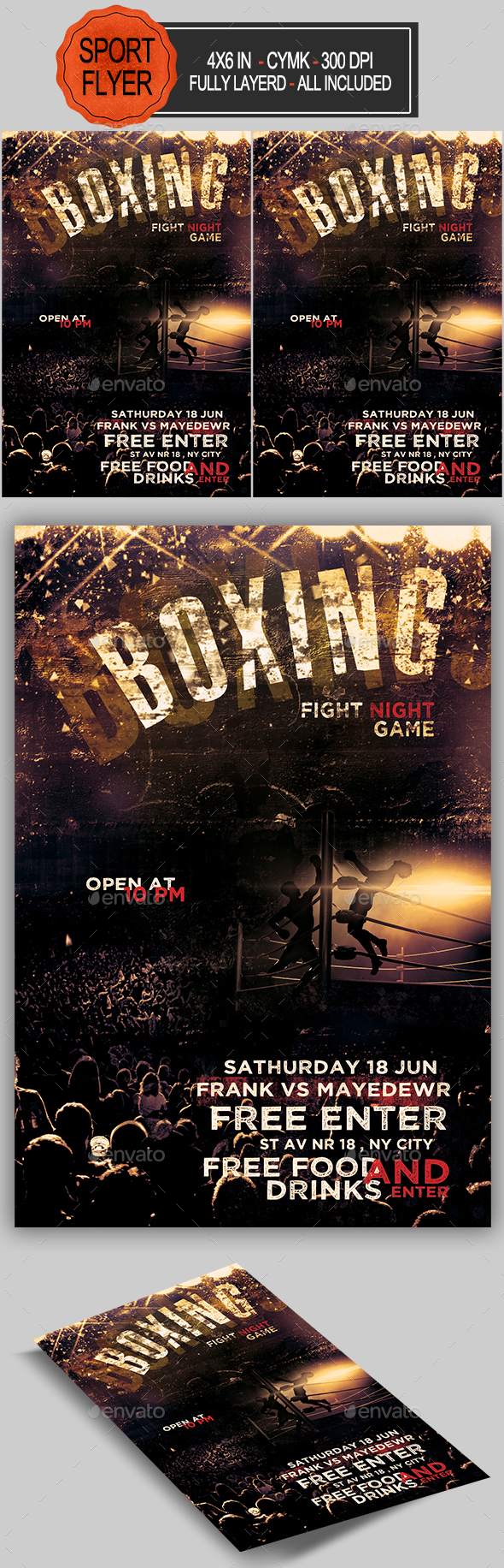 Boxing Poster Graphics Designs Templates From Graphicriver