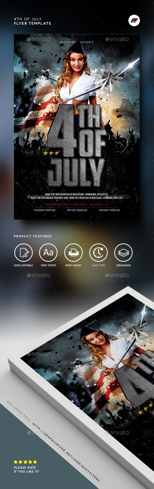 4th of July 2016 Flyer Template - Events Flyers