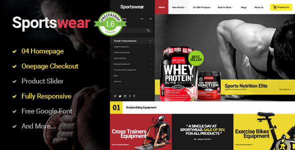 Image of Sportwear - Multi Purpose Responsive PrestaShop Theme