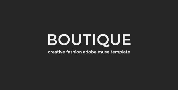 Boutique - Fashion Muse Template - eCommerce Muse Templates