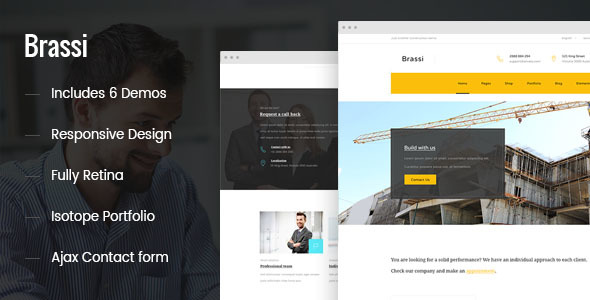 Brassi – Responsive Html Template For Your Business