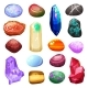 Download Vector Crystal Stone Rocks Icons Set