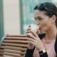 Businesswoman Drinking Coffee - VideoHive Item for Sale