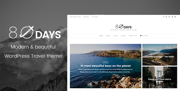 EightyDays – A WordPress Travel Theme For Travel Blogs