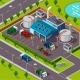 Recycling Plant Isometric Concept  - GraphicRiver Item for Sale