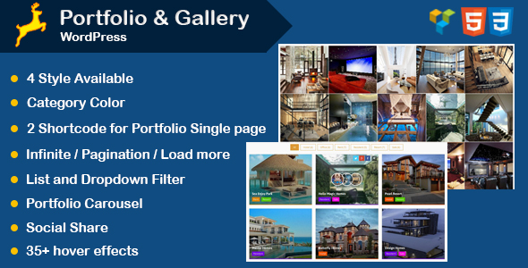 Portfolio and Gallery Grid Layout with Carousel for WordPress - CodeCanyon Item for Sale