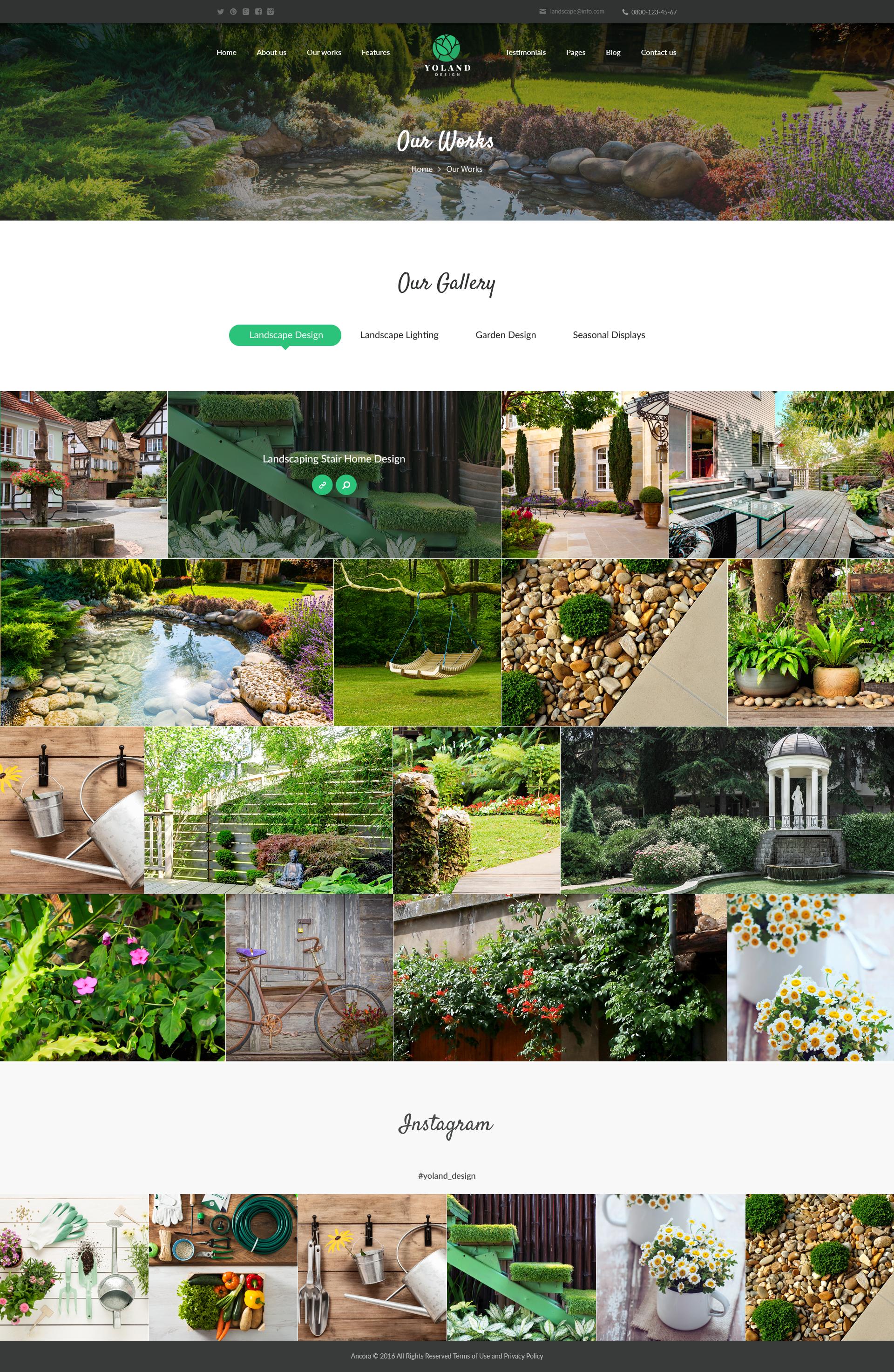 Yoland | Landscape Design & Garden Accesories Store WordPress Theme on