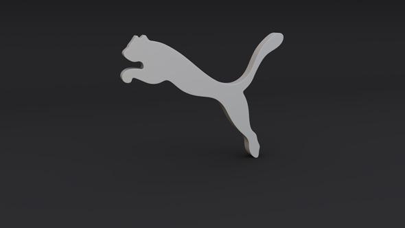 Puma Logo Model - 3DOcean Item for Sale