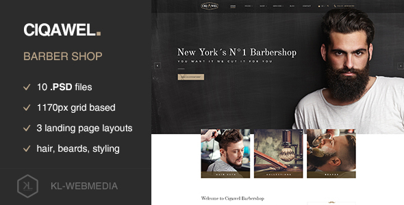 Cigawel – Barbershop PSD Template