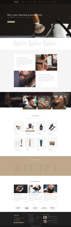 cigawel barbershop psd template by kl webmedia themeforest
