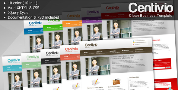 Centivio – Clean Business Template – 10 in 1
