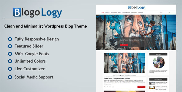 Blogology – Responsive WordPress Blog Theme