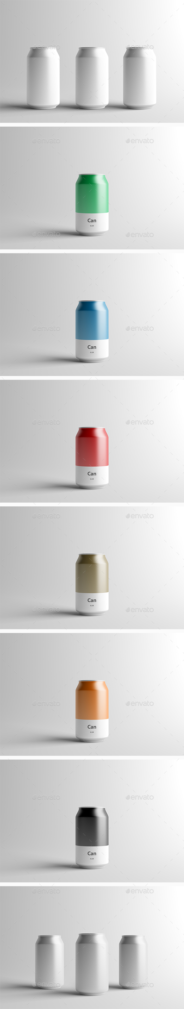 Can Mock-Up - 330ml - Food and Drink Packaging