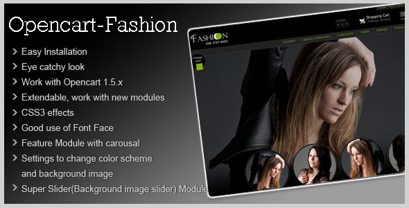 Free Download Fashion Theme for Opencart 1.5 Nulled Latest Version