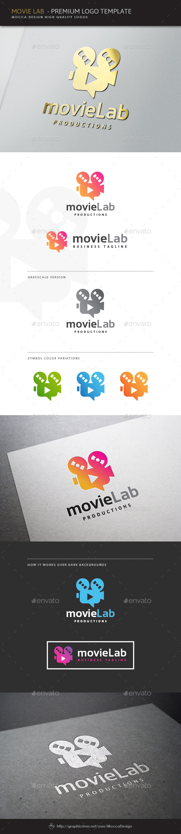 Movie Lab Logo - Objects Logo Templates