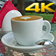 Cup Of Coffee With Spoon On a Table  - VideoHive Item for Sale