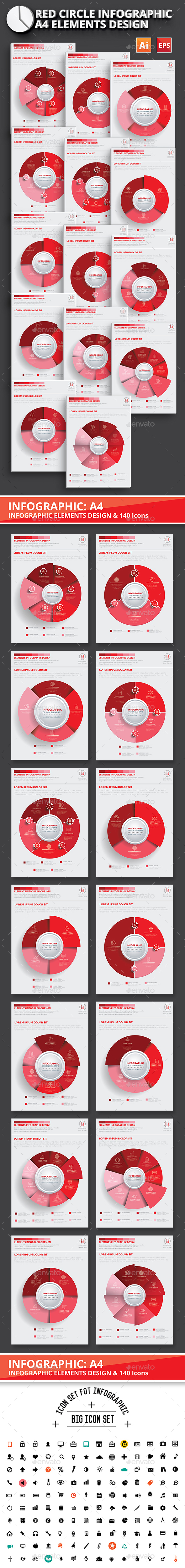 Red Circle Infographic Design