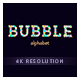 Bubble Alphabet 4K Project - VideoHive Item for Sale