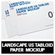 Landscape Us Tabloid Flyer  Mockup - GraphicRiver Item for Sale