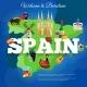 Spain Travel Flat Symbols Composition Poster