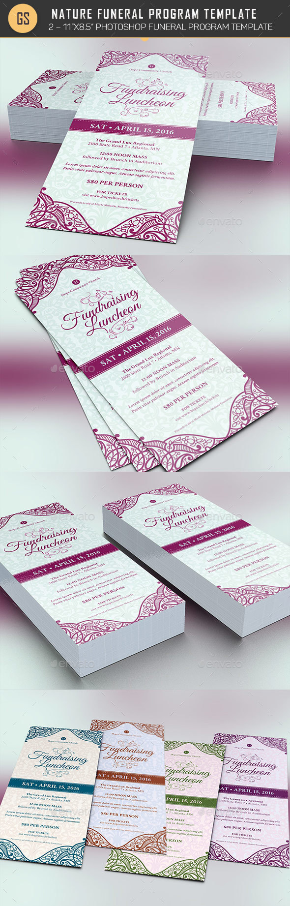 Fundraising Luncheon Flyer Template   Events Flyers  Luncheon Flyer Template