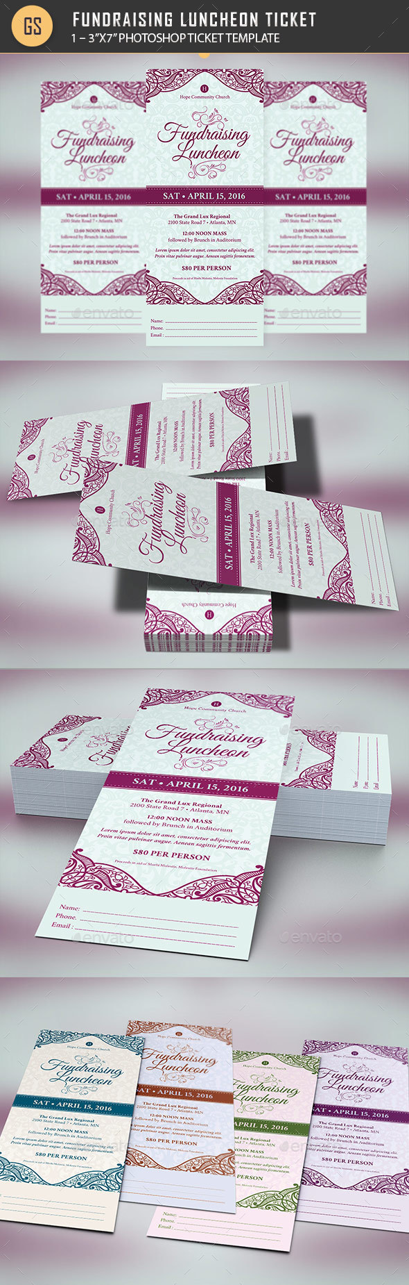 Luncheon Graphics, Designs & Templates from GraphicRiver