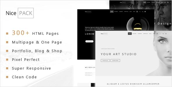 NicePACK – Multipurpose Creative / Company HTML5 Template