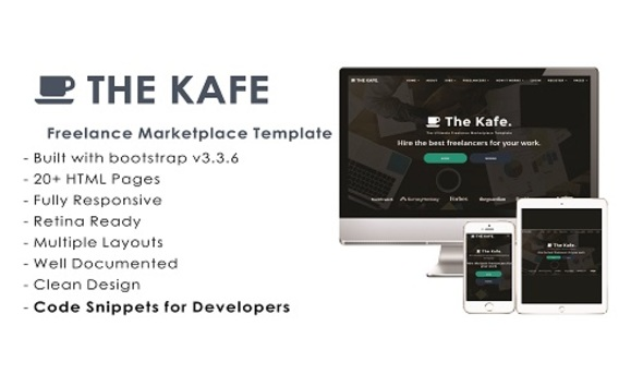 The Kafe - Ultimate Freelance Marketplace Template + Code Snippets