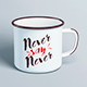 Enamel Mug / Tin Cup MockUp - GraphicRiver Item for Sale