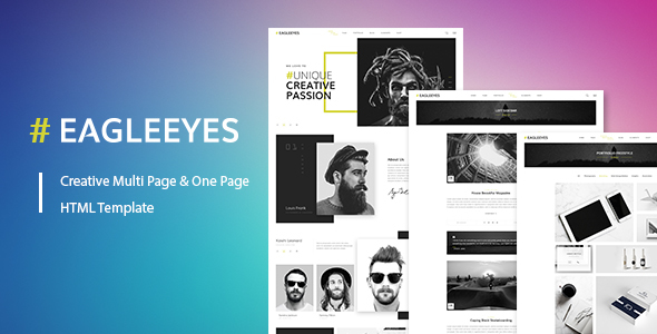 EAGLEEYES - Creative multipages and One page HTML5 Template
