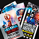 4th Of July and Memorial Day Flyers Bundle PSD - GraphicRiver Item for Sale