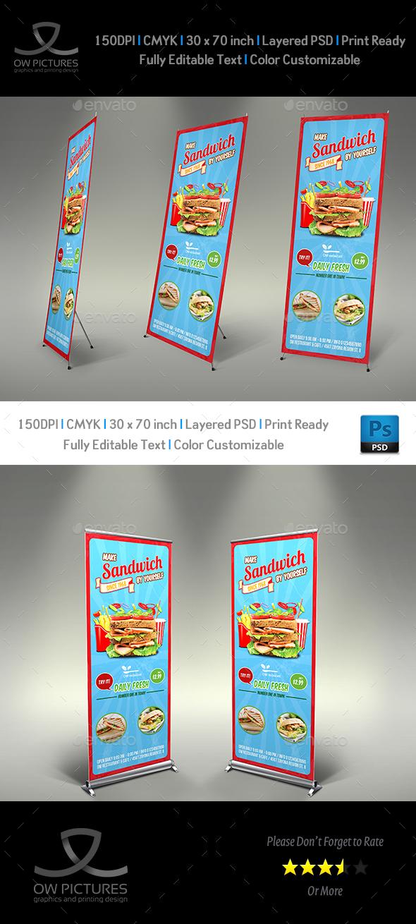 Sandwich Restaurant Signage Template