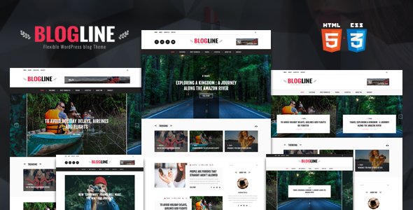 Blogline - Responsive Blog Html5 Template - Personal Site Templates
