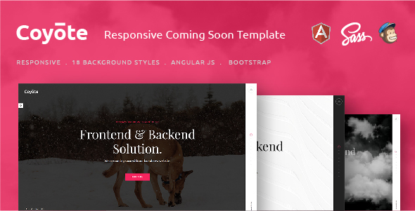 Coyote – Responsive HTML5 Coming Soon Template