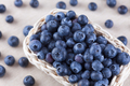 Fresh blueberry in a basket - PhotoDune Item for Sale