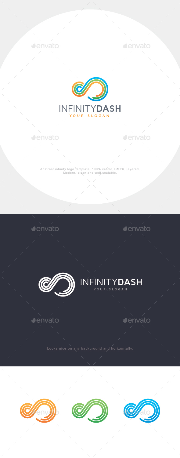 Infinity Lines Logo - Vector Abstract