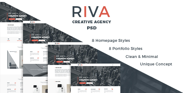 Riva | Agency and Portfolio PSD Template