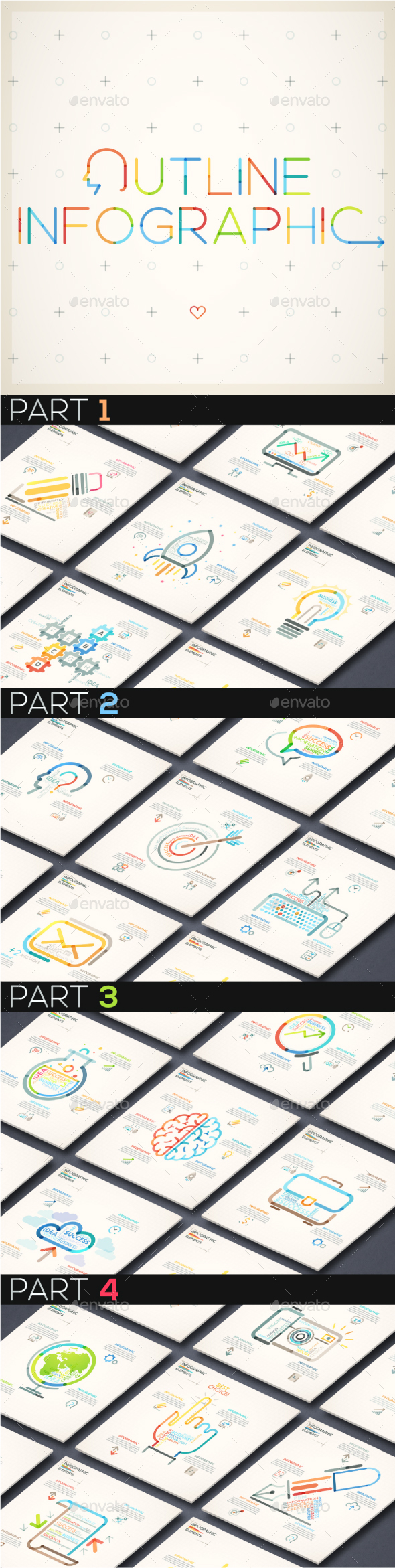 Outline Infographic Bundle