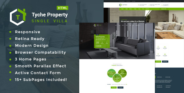Tyche Properties – Single Property Real Estate HTML Template