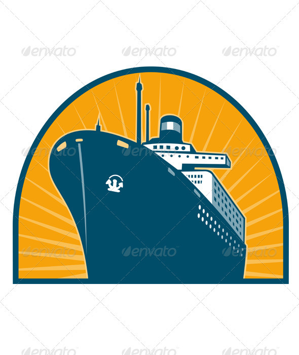 Passenger Ship Boat Ocean Liner Retro - Travel Conceptual